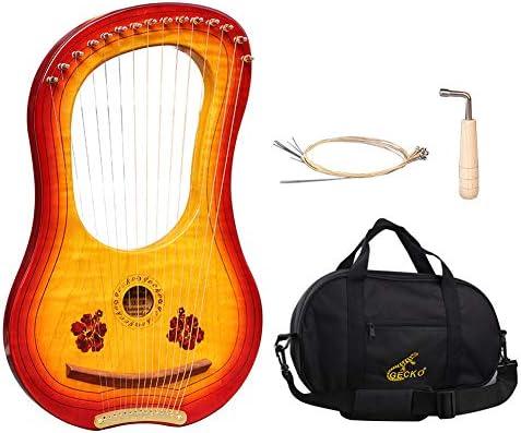 XuBa GK-15MC - Escalera de madera (15 cuerdas, con bolsa de transporte impermeable): Amazon.es: Instrumentos musicales