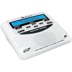 Midland WR120B/WR120EZ NOAA Weather Alert All Hazard Public Alert Certified Radio with SAME, Trilingual Display and Alarm Clock - Box Packaging