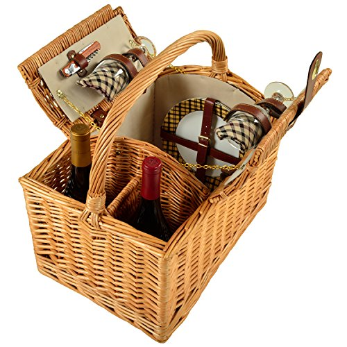 Picnic at Ascot Vineyard Willow Picnic Basket with service for 2 - London ()