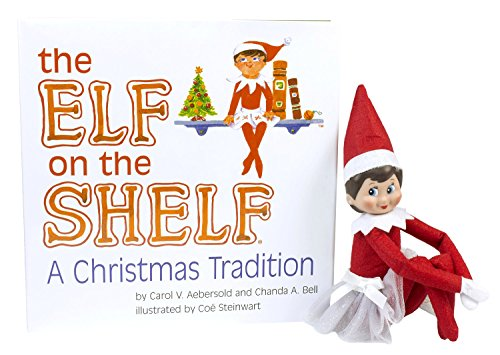 The Elf on the Shelf: A Christmas Tradition Blue Eyed North Pole Elf Girl With Winter Sparkle Tutu (Girls Elf Outfit)