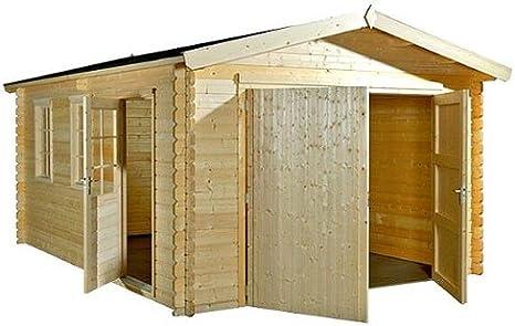 Amazon.es: bloque casa Garage – CarPort – 380 cm x 530 cm – 45 mm ...