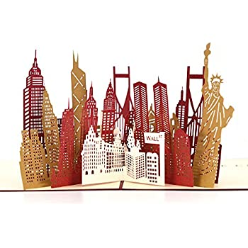 Amazon Pop Up Thank You Cards Breezypals 3d New York