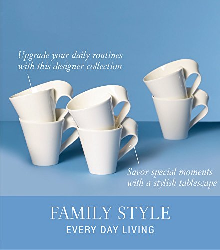 New Wave Caffe Coffee Mug Set of 6 by Villeroy & Boch - Premium Porcelain - Made in Germany - Dishwasher and Microwave Safe - Includes Mugs - 11 Ounce Capacity by Villeroy & Boch (Image #3)