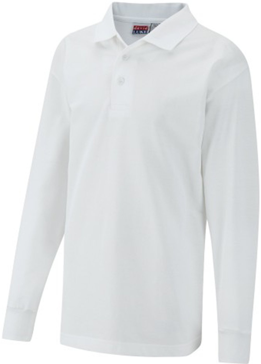 David Luke Childrens School Uniform Shirt Kids Schoolwear Long Sleeve Pique Poloshirt