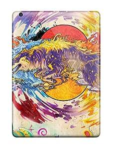 Ipad Air Wolf Print High Quality Tpu Gel Frame Case Cover