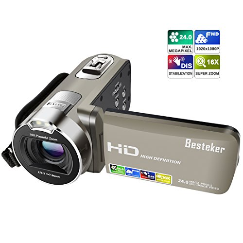 Camera Camcorders, HD 720P 16MP 16X Digital Zoom Video Camcorder