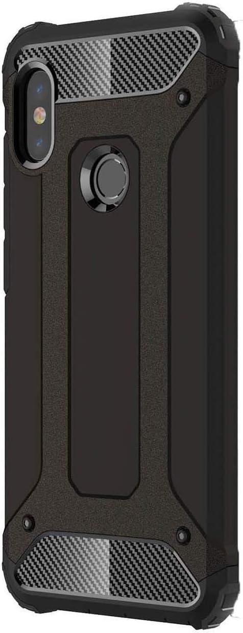 FANFO Funda Xiaomi Mi Mix 3, Carcasa Elegante Robusta Armadura Híbrida TPU/PC, Anti-Arañazos Panel Trasero + Parachoques TPU A Prueba De Choques. Negro