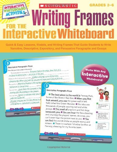 Writing Frames for the Interactive Whiteboard [With CDROM] (Interactive Whiteboard Activities (Scholastic)) by Mela Ottaiano (Editor) (1-Nov-2011) Paperback