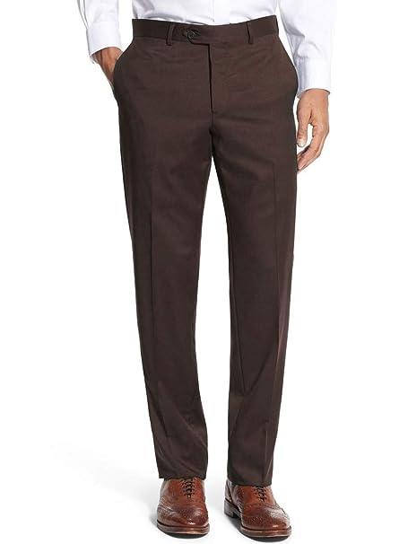 Kebello Pantalon de Costume Coupe Droite Homme Marron  Amazon.fr  Vêtements  et accessoires 4d098f2e4b32
