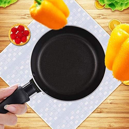 XXDTG Protection de l'environnement Pot - antiadhésive Poêle Mini Portable Poêle, Multi-Fonction métal Batterie de Cuisine