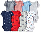 Carter's Baby 8-Pack Short-Sleeve Bodysuits, Multi Oatmeal, 24 Months