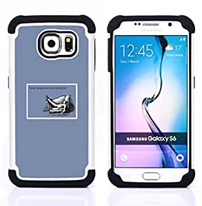 - procrastination quote life funny work success/ H??brido 3in1 Deluxe Impreso duro Soft Alto Impacto caja de la armadura Defender - SHIMIN CAO - For Samsung Galaxy S6 G9200