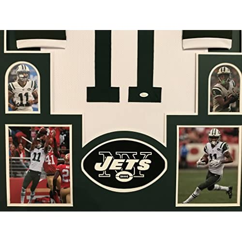 san francisco 11f63 ae6b1 Robbie Anderson Autographed Custom Framed New York Jets ...