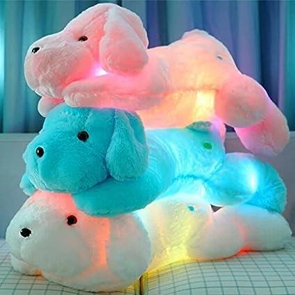 Primey Gran Tamaño 50 cm Perro Luminoso Kawaii de Peluche Juguetes el Color puede Cambiar Luz