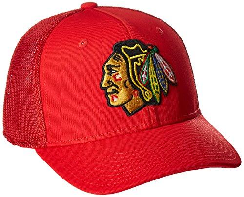 Reebok NHL Chicago Blackhawks Men's SP17 Trucker Structured Flex Cap, Red, Large/X-Large