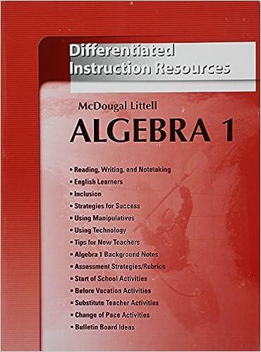 Amazon Holt Mcdougal Larson Algebra 1 Differentiated