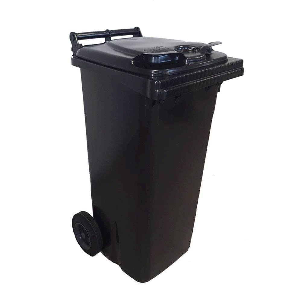 Bin in HDPE for Outdoor Use 120 LT, Mis. 48 L X 55 P X H 93 cm, Weight 9.2 kg, Grey PACK SERVICES SRL