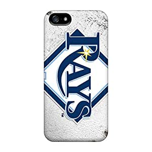 FIfTHKe-4008 Tpu Phone Case With Fashionable Look For Iphone 5/5s - Tampa Bay Rays
