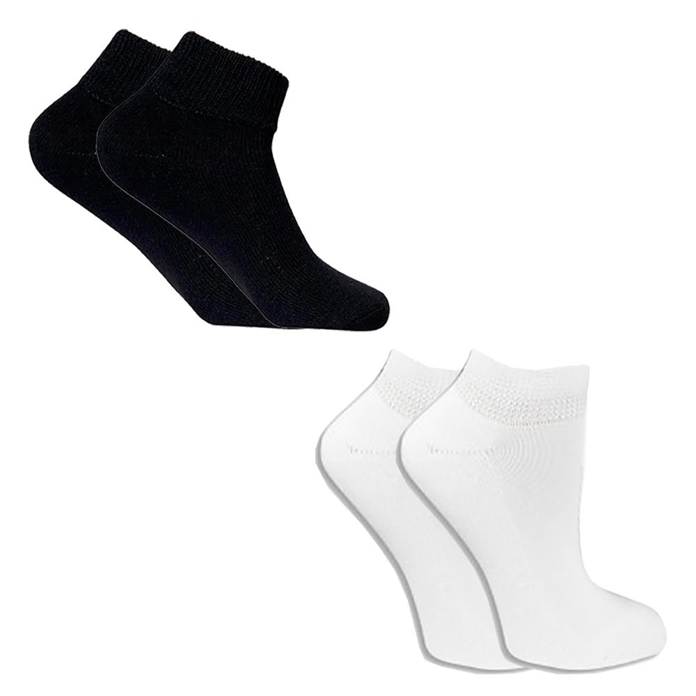 Balec Circulation Unisex Arthritis Diabetic Ankle Cotton Socks - Wholesale Lot - 120 Pack (9 - 11, Black and White)
