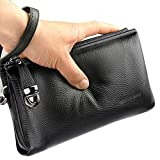 Men's Clutch Bag Handbags Genuine Leather Wallets Business Organizer Purse Rangren