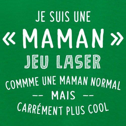 une maman normal jeu laser - Femme T-Shirt - Vert - XL