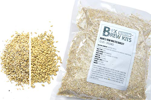 RAHR 2-Row Malted Barley 2 LBS CRUSHED Home Brewing Beer Making Recipe Ingredients Vacuum Sealed 1 Gallon Small Batch
