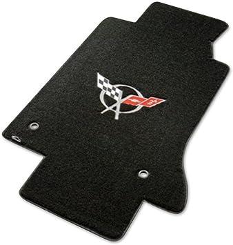 Choose Color /& Logo Corvette C5-C6 2pc Velourtex Carpet Front Row Floor Mats