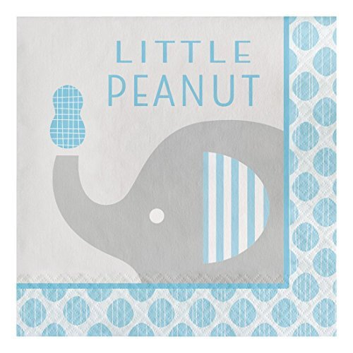 Creative Converting 316934 Paper Lunch Napkins, Little Peanut Elephant - Boy (48 Count Pack) for $<!--$12.14-->