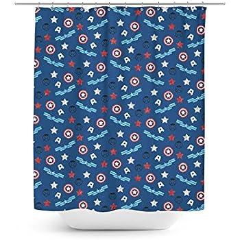 Amazing American Superhero Shower Curtain (36x72 Stall)