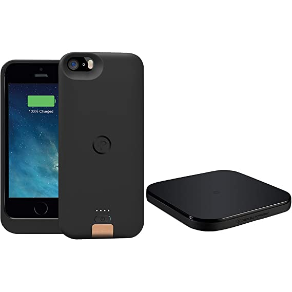 on sale c8af3 261a7 DURACELL POWERMAT PowerSet II Kit for iPhone 5 with Access Case and  Powermat - Retail Packaging - Black