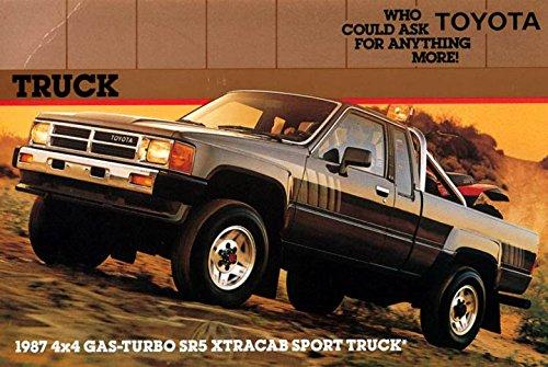 1987 Toyota 4x4 Gas Turbo SR5 Xtracab Sport Pickup Truck Factory Postcard