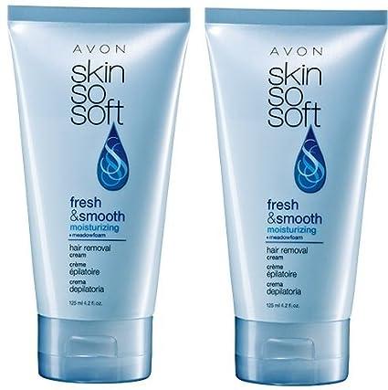 2 Avon SKIN SO SOFT Fresh & Smooth Moisturizing Hair Removal Cream by Avon Skin So