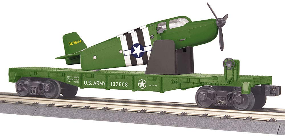 MTH TRAINS; MIKES TRAIN HOUSE US Army Flat CAR W/Airplane