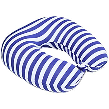 Blue BOYANN Microbeads Travel Pillows with Spandex Cover Neck Support Cushion for Airplane Car Reading
