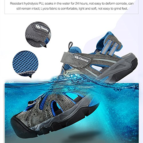 Clors Männer geschlossen-Zehe Outdoor-Athletic Sandal Fischer Wandern Wasser Sandale SD207 Blau