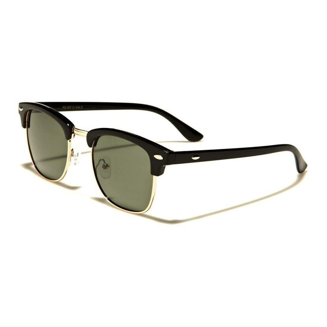 Vintage Half Frame Classic Optical Polarized Shades Women Men Sunglasses