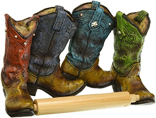 Eastwind Gifts 10016206 Cowboy Boots Toilet Paper Holder