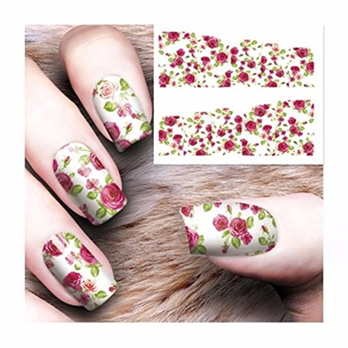 8 Pcs Water Transfer Sheet Nail Art Sticker Decal Beauty Tips Decoration - 4
