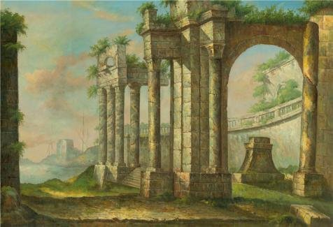 Oil Painting 'the Ancient City In The Morning' Printing On High Quality Polyster Canvas , 24x35 Inch / 61x89 Cm ,the Best Foyer Decor And Home Artwork And Gifts Is This Cheap But High Quality Art Decorative Art Decorative Prints On Canvas