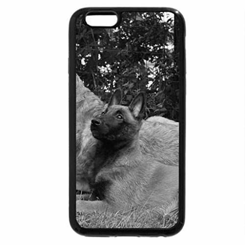 iPhone 6S Case, iPhone 6 Case (Black & White) - TWO DOGS