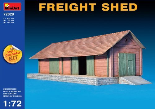 Miniart 1:72 Scale Freight Shed Plastic Model Kit by Miniart