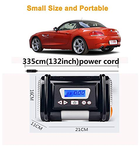 Tire Inflator/Air compressor,12V DC Tire Inflator Electric Portable Auto Air Compressor Pump to for Car,Truck, Bicycle, Basketball by HJJH (Image #6)