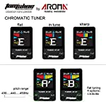 Tom'sline Engineering Chromatic Tuner Pedal AT07 (Summer Promotion) great for Guitars and Basses High definition color screen Pitch 430-450Hz 4 flat options True bypass Nano size from Aroma Music