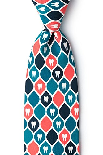 Dentist Approved Blue Microfiber Tie
