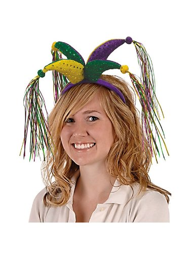 Beistle 60583B Jester Tinsel Head Band by CoolGlow