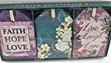 Inspirational Faith, Hope, Love ''Clean Cotton'' Scented Sachet Gift Set