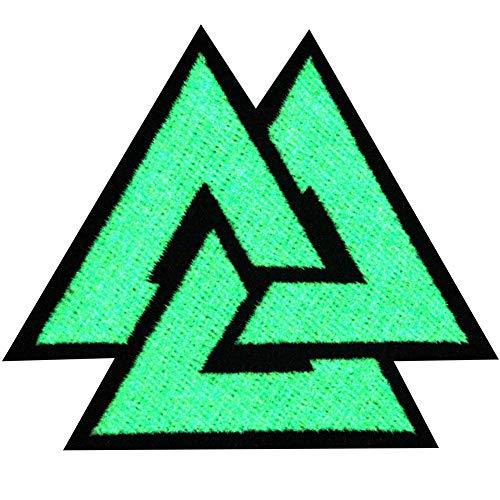 EmbTao Glow In Dark Valknut Triangle Symbol Viking