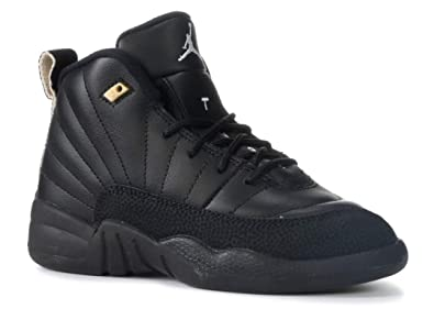 reputable site 64d55 95d20 Nike Air Jordan Retro 12 THE MASTER Preschool P.S Black White Black  Metallic Gold 151186-