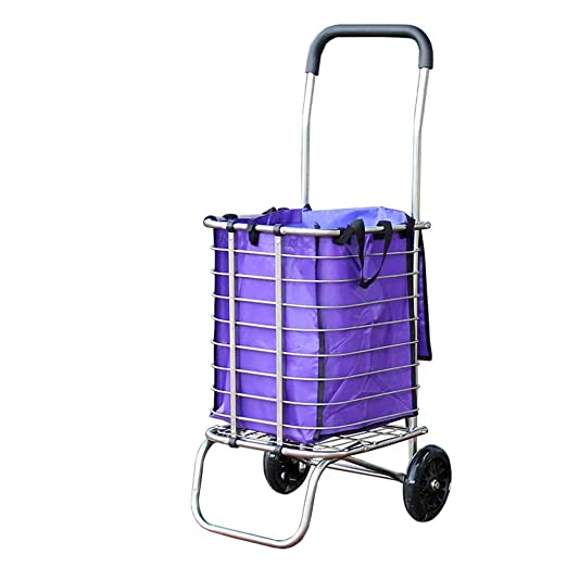 Amazon.com: Shopping cart Stainless Steel Folding Shopping cart Elderly Portable Shopping cart Trolley Trolley: Home & Kitchen