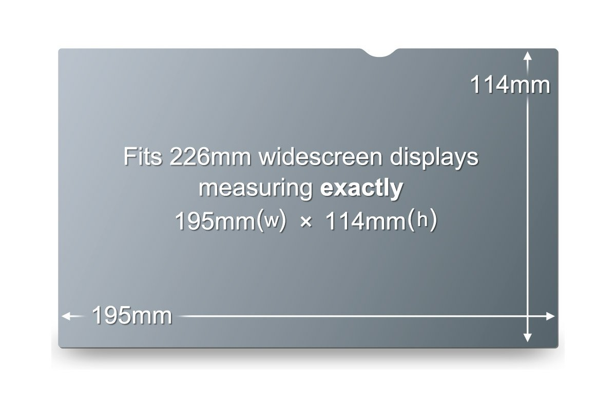 3M Privacy Filter- 3M PF8.9W Widescreen Netbook privacy screen (16:9)